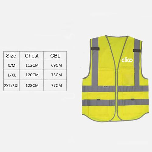 Dark Night Working Reflective Safety Vest Image 2