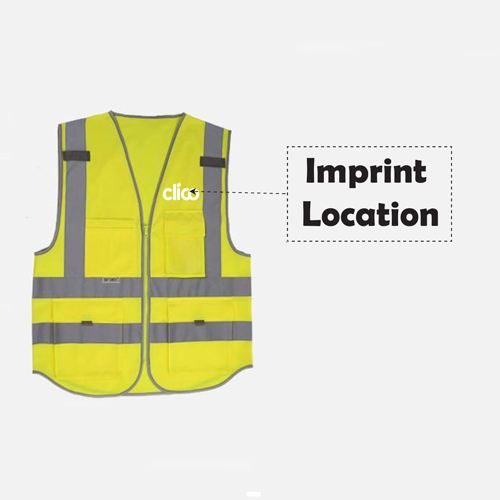 Dark Night Working Reflective Safety Vest Imprint Image