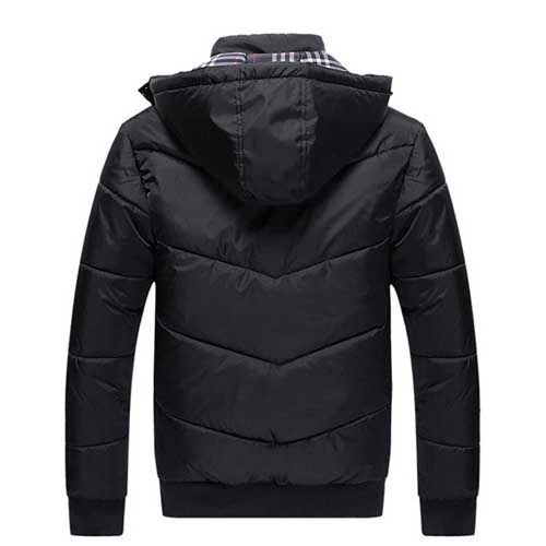 Thermal Plus Size Mens Jacket with Winter Hat Image 1