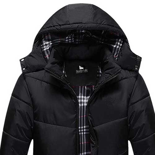 Thermal Plus Size Mens Jacket with Winter Hat Image 4