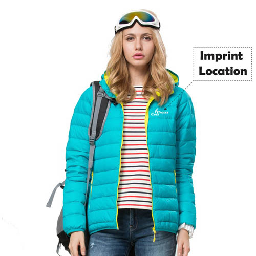Ultra Light Pocketable Women Jacket Imprint Image