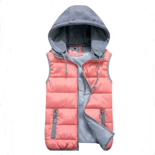Womens Removable Hat Hooded Jacket