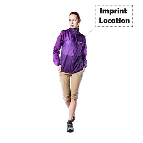 UV Sunscreen Casual Hooded Jacket Imprint Image