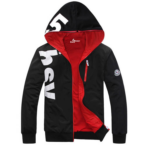 Fleece Lining Hoodies Male Coat
