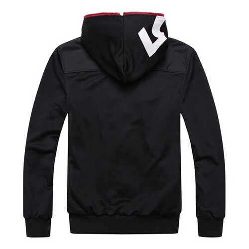 Fleece Lining Hoodies Male Coat Image 3