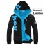 Fleece Lining Hoodies Male Coat Imprint Image