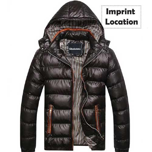 Plus Size Mens Winter Jacket Imprint Image