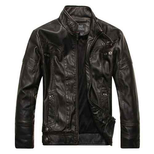 Motorcycle Leather Mens Jacket Image 1