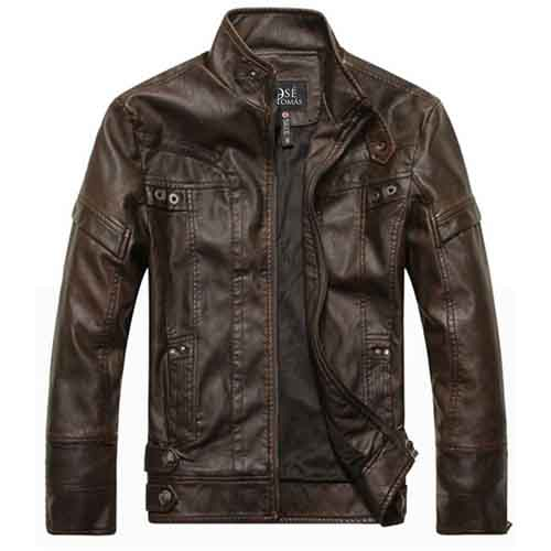 Motorcycle Leather Mens Jacket Image 2