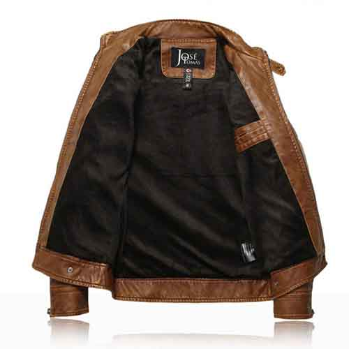 Motorcycle Leather Mens Jacket Image 3