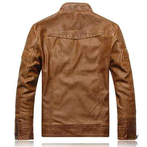 Motorcycle Leather Mens Jacket Image 4