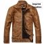 Motorcycle Leather Mens Jacket Imprint Image