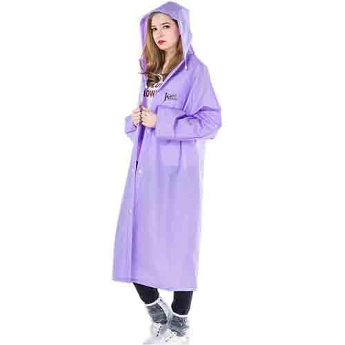 Long Raincoat Knee Length Image 3