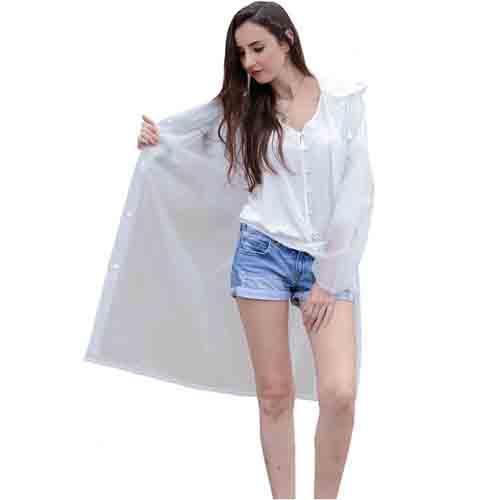 Long Raincoat Knee Length Image 4