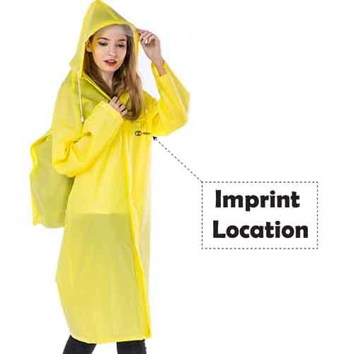 Hiking Hooded Rain Coat Image 4
