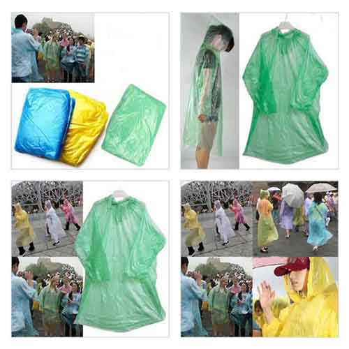Disposable Adult Emergency Raincoat Image 3