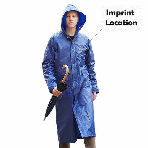 Women Men Impermeable Raincoat Imprint Image