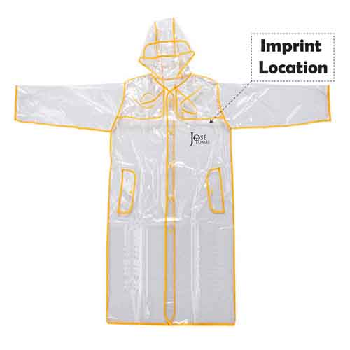 Waterproof Windbreaker Hooded Rainwear Imprint Image