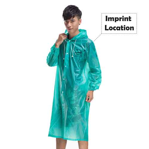 Outdoor Travel Waterproof Raincoat  Imprint Image