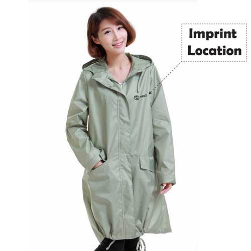 Ladies Rain Jacket Breathable Imprint Image