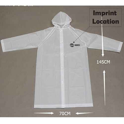 Portable Translucent Raincoat  Imprint Image