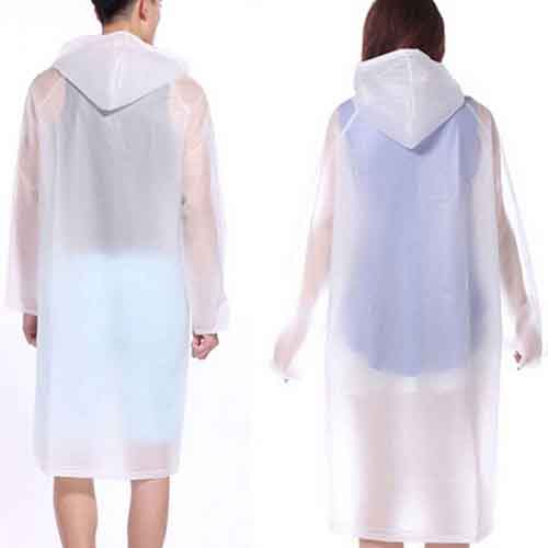 Solid Knee Length Raincoat Image 1