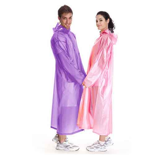 Solid Knee Length Raincoat Image 3