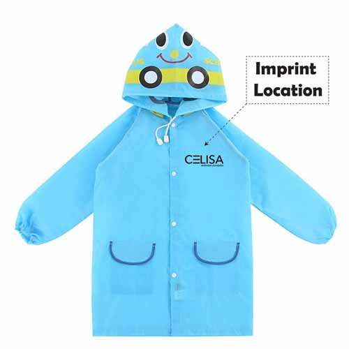 Kids Waterproof Raincoat Imprint Image