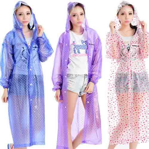 Women Fashion Style Rain Coat