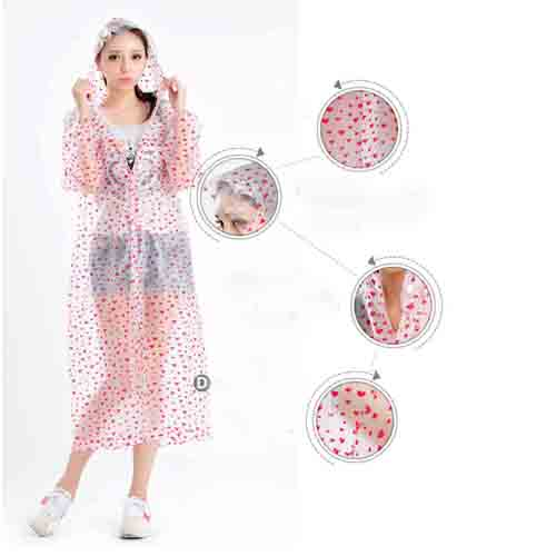 Women Fashion Style Rain Coat  Image 3