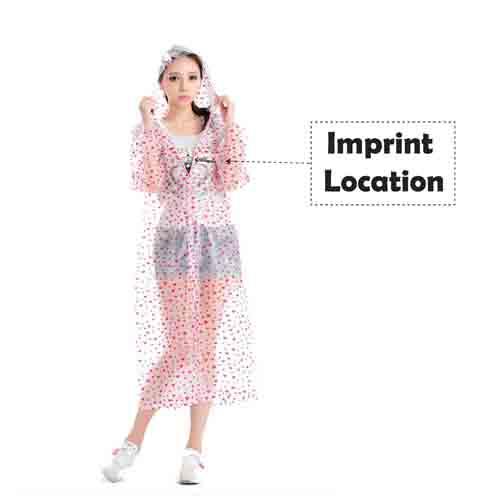 Women Fashion Style Rain Coat  Imprint Image