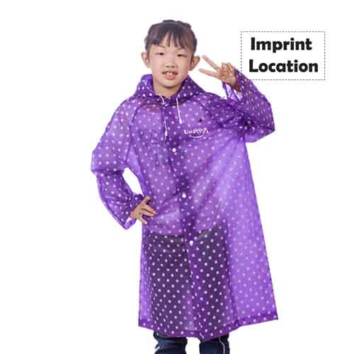 Childrens Woman Raincoat Rainwear Imprint Image