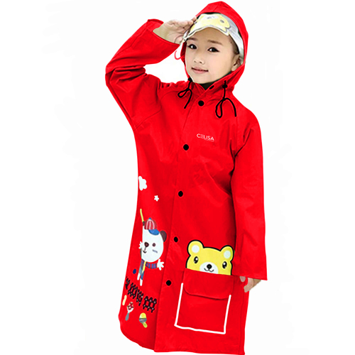 Young Girl Cartoon Raincoat
