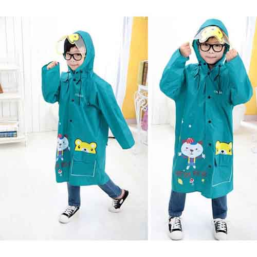 Young Girl Cartoon Raincoat Image 2