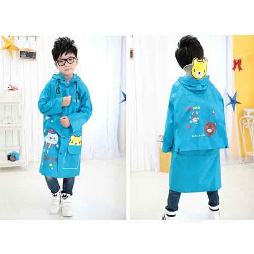 Young Girl Cartoon Raincoat Image 3