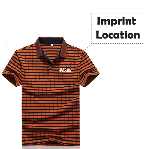 Cotton Solid Mens Polo Shirt Imprint Image