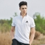 Mens Ribbed Collar Polo Shirt Image 2
