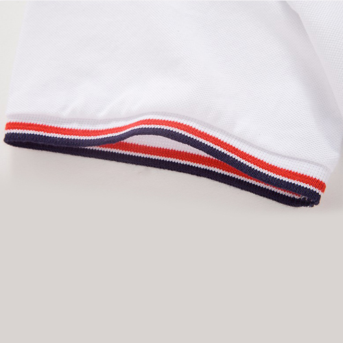 Mens Ribbed Collar Polo Shirt Image 4