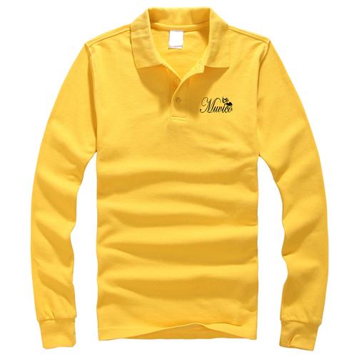 Mens Long Sleeve Polo Shirt Image 1