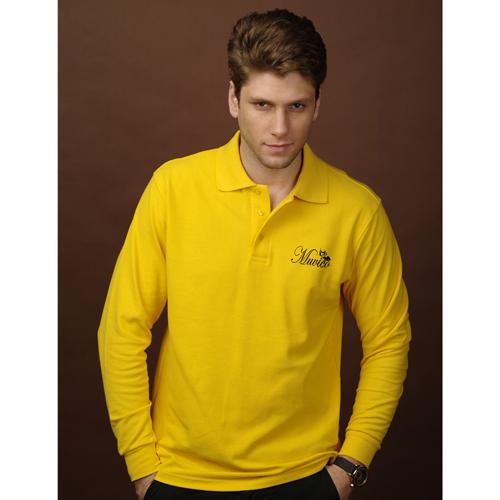 Mens Long Sleeve Polo Shirt Image 3