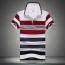 Stripe Lapel Short-Sleeved Polo Shirt Image 2