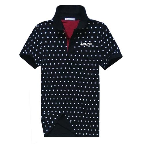 Polka Dot Short Sleeve Polo Shirt Image 1