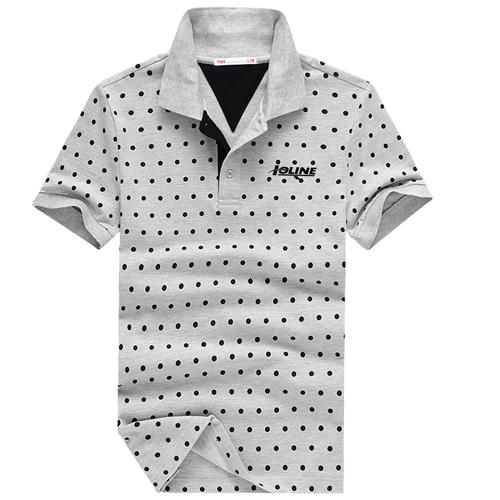 Polka Dot Short Sleeve Polo Shirt Image 2