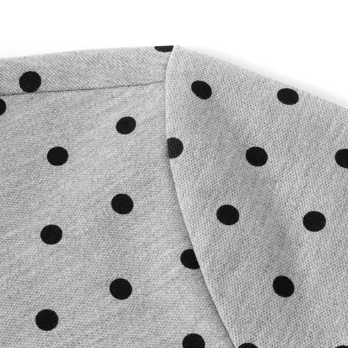 Polka Dot Short Sleeve Polo Shirt Image 3