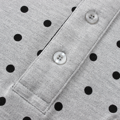 Polka Dot Short Sleeve Polo Shirt Image 4