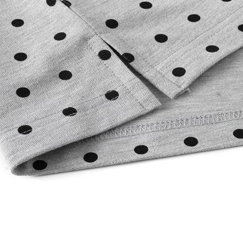 Polka Dot Short Sleeve Polo Shirt Image 5