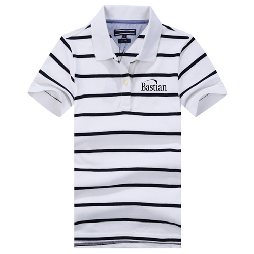 Classic Striped Polo Shirt Image 1