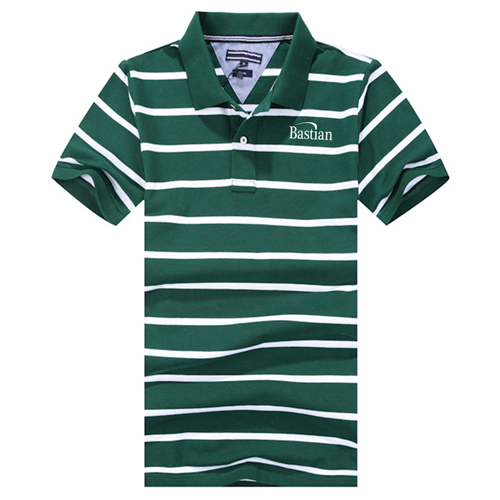 Classic Striped Polo Shirt Image 2