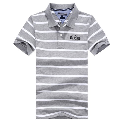 Classic Striped Polo Shirt Image 3
