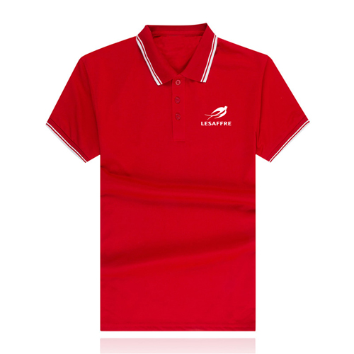 Striped Collar Polo Shirt Image 4